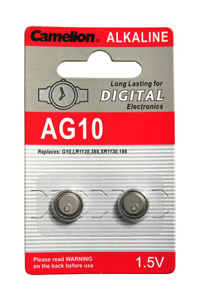 Batterie alcaline 1 5v a bottone 11 mm ag10 for Batteria bottone lr1130